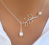 Jewelry Pendant Necklaces Party / Daily / Casual Alloy / Imitation Pearl Women Silver / White Wedding Gifts