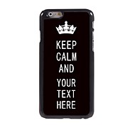 """cheap -Personalized Case Black Keep Calm Design Metal Case for iPhone 6 (4.7"""")"""