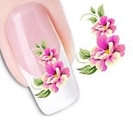 Недорогие -1 Наклейка для переноса воды 3D-стикеры для ногтей Цветы Мода Свадьба Повседневные Высокое качество
