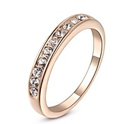 cheap -Women's Band Ring Silver Golden Crystal Gold Plated Imitation Diamond Classic Wedding Party Daily Casual Costume Jewelry