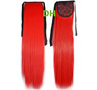 Горячий продавать Peny клипы Хвост Цвет волос Цветной Red Bar Наращивание волос Оптовая части волос