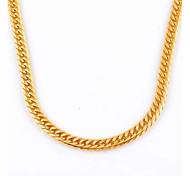 Fashion Simple Men's Gold/Silver Titanium Steel Chain Necklace