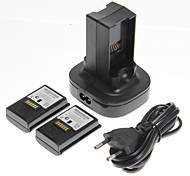 cheap -Dual Charger Charging Station Dock and 2 Batteries for Xbox 360(UK Plug)