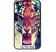 Personalized Case Tiger Pattern Metal Case for iPhone 4/4S
