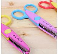 Недорогие -1 шт scrapbooking diy фото кружева металлические пластиковые ножницы (роза)