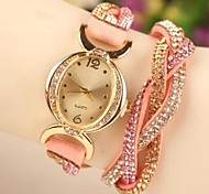 Women's Casual Style Full Rhinestone Band Quartz Analog Wrist Watch (Assorted Colors) Cool Watches Unique Watches