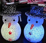 Coway Crystal Snowman Colorful LED Nightlight High Quality