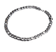 55cm-62cm, 10mm, versilbert luxuriöse figaro Kette Herren-Super dicken klobigen Halskette