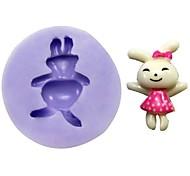 Недорогие -кролик помадкой торт шоколадный смолы глины конфеты силиконовые формы, l3.1cm * w3cm * h1cm