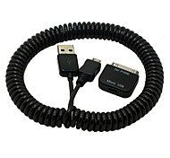 cheap -2.5M 8FT 30pin to Female Micro USB Adapter Spring Retractable Charger Data Cable For Samsung Galaxy Tab 10.1 S4 Phone