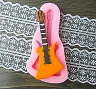 Недорогие -гитара помадкой торт шоколадный смолы глины конфеты силиконовые формы, l10.6m * w5.3cm * h0.9cm