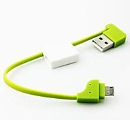 Schlüsselanhänger Stil tragbare Micro-USB-Datenkabel für Samsung / HTC