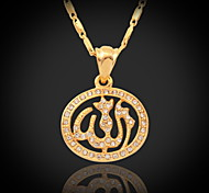 cheap -Synthetic Diamond Crystal Rhinestone Gold Plated Pendant Necklace Vintage Necklace - Cute Style Gold Necklace For