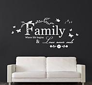jiubai® familia pared cotización pared calcomanía etiqueta