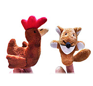 cheap -Chicken Finger Puppets Puppets Cute Lovely Novelty Cartoon Textile Plush Girls' Boys' Gift