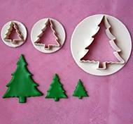 3pcs Christmas Tree Stamper Fondant Cake Models