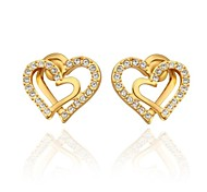 Women's Stud Earrings Costume Jewelry Rhinestone Gold Plated Jewelry For Wedding Party Daily Casual
