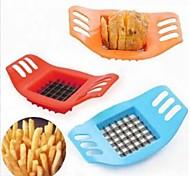 Недорогие -картофель дробилка творческий картофеля вырезать бар резки фри / картофель фри цвета инструмента синий
