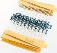 1 / 4W резисторы сопротивление металла 1% 10р-1м (30 х 10шт)