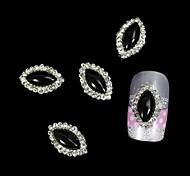 Недорогие -10шт черный маркиза поделки сплава аксессуары ногтей украшения