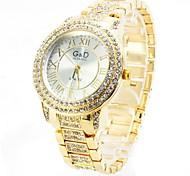 Mulheres Relógio Elegante Quartzo imitação de diamante Lega Banda Brilhante Luxuoso Dourada Ouro Rose Dourado Ouro Rose