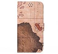 Недорогие -для Iphone 7 карты мира кожаный защитный откидная крышка для iphone 6 плюс