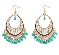 cheap -Women's Tassel Bohemian Turquoise Drop Earrings - Tassel Bohemian European Black Red Green N / A Earrings For Holiday
