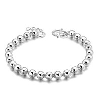 cheap -Women's Chain Bracelet Vintage Cute Party Work Casual Basic Simple Style Sterling Silver Silver Plated Circle Jewelry Christmas Gifts