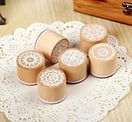 baratos -Padrão aleatório de madeira padrão de 1 pc circular