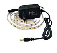 preiswerte -jiawen® 2.5m 12w 150x5050smd 6000-6500k weißen LED flexible Streifen Licht + 2a Leistung (AC 110-240 V)