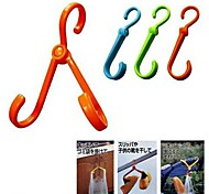 Folding Multi-function Air Shoes Hook Towel Hook(Random Color)