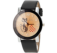 Women's Cat Pattern Quartz PU Band Analog Fashion Watch (Assorted Colors) Cool Watches Unique Watches Strap Watch