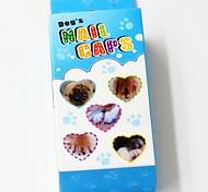 мягкие ногтей шапки с клеем для собак кошек когти - 20 шт / уп (хз-л, разных цветов)