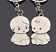 cheap -Personalized Engraving Child Metal Couple Keychain