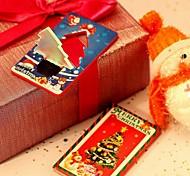 Рождество елка свет привел свет карточки