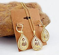 cheap -Women's Zircon / Gold Plated Jewelry Set Earrings / Necklace - Golden Jewelry Set For Wedding / Party / Daily