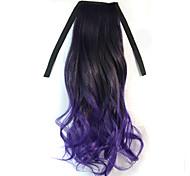 Cosplay Wigs Cosplay Tomoyo Daidouji Black / Purple Medium Anime Cosplay Wigs 45 CM Heat Resistant Fiber Female