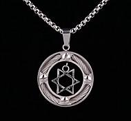 Z&x® панк старинные гексаграмма титановые стали кулон мужские ожерелья (золотые, серебряные)