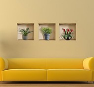cheap -3D Wall Stickers 3D Wall Stickers Decorative Wall Stickers, Vinyl Home Decoration Wall Decal Wall