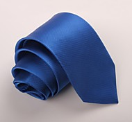 cheap -Men's Party Work Polyester Necktie - Solid Colored