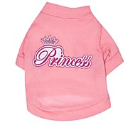 cheap -Cat Dog Shirt / T-Shirt Dog Clothes Breathable Letter & Number Pink Costume For Pets