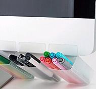 монитор компьютера в офисе портативный перо рабочего стола контейнер ящик для хранения организатор одной записи