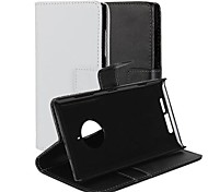cheap -Case For Nokia Nokia Lumia 830 Nokia Case Card Holder Wallet with Stand Full Body Cases Solid Color Hard PU Leather for