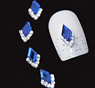 10pcs   Blue Marquise 3D Rhinestone DIY Alloy Accessories Nail Art Decoration