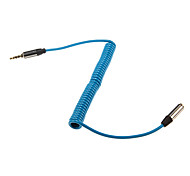 cheap -1m 3.28FT Stereo Audio 3.5mm Male to Audio 3.5mm Female Extense Cable