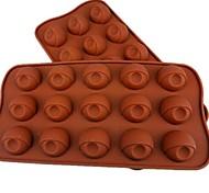 Недорогие -15 отверстий разрез глаз торт лед желе Формы для шоколада, силиконовая 21,5 × 10,5 × 2 см (8,5 × 4,1 × 0.8inch)