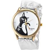 Недорогие -Жен. Кварцевый Модные часы Горячая распродажа PU Группа Кулоны Серебристый металл