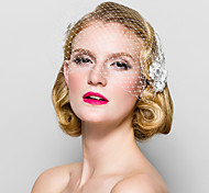 Women's Fabric Headpiece-Wedding Special Occasion Birdcage Veils