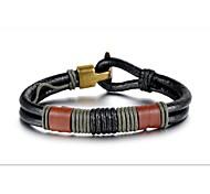 Недорогие -Муж. Кожа Кожаные браслеты - Браслеты Назначение Новогодние подарки Свадьба Для вечеринок