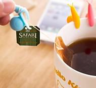 ferramenta multifuncional caracol chá material de silicone em forma (cor aleatória / 1 pcs)